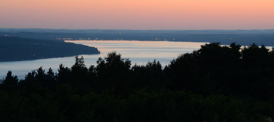 Sunrise over Canandaigua Lake